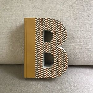 Laser cut book, letter B